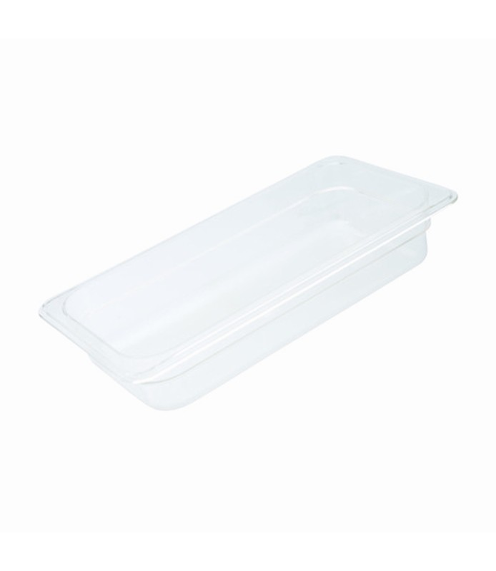 Polycarbonate Food Pan Clear 1/3 x 65mm Deep