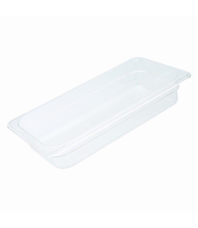 Polycarbonate Food Pan Clear 1/3 x 150mm Deep