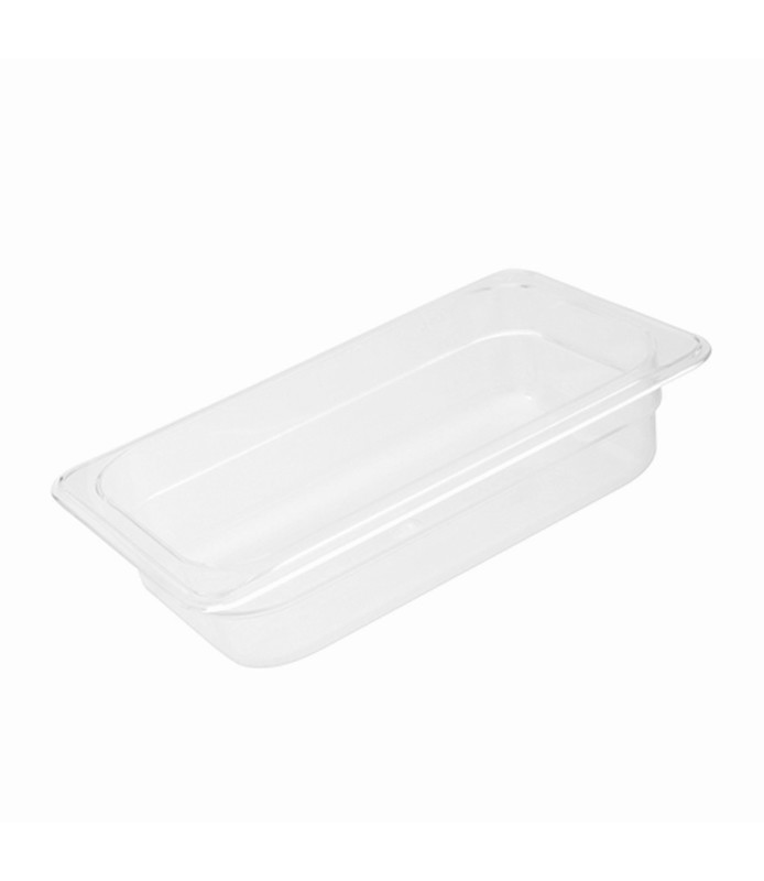 Polycarbonate Food Pan Clear 1/4 x 100mm Deep