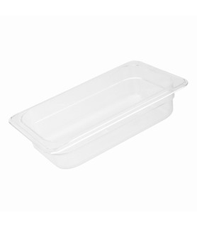 Polycarbonate Food Pan Clear 1/4 x 150mm Deep