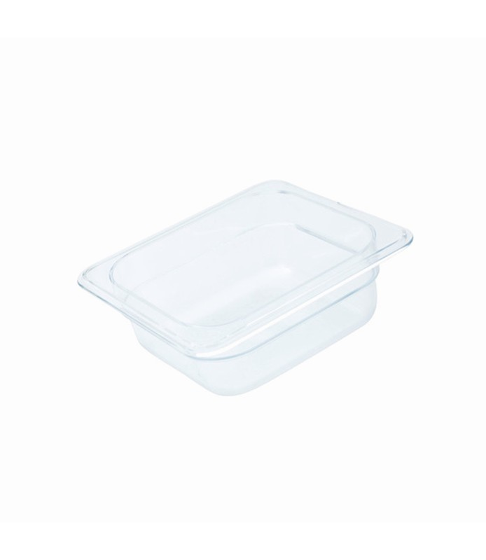 Polycarbonate Food Pan Clear 1/6 x 65mm Deep