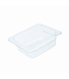 Polycarbonate Food Pan Clear 1/6 x 100mm Deep