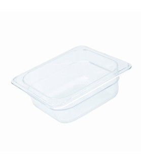 Polycarbonate Food Pan Clear 1/6 x 150mm Deep