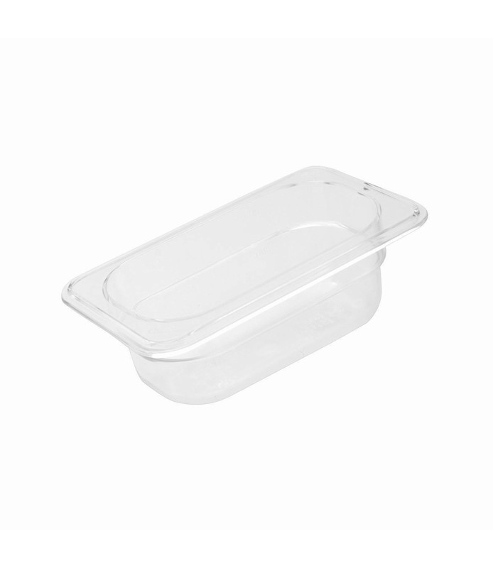 Polycarbonate Food Pan Clear 1/9 x 65mm Deep