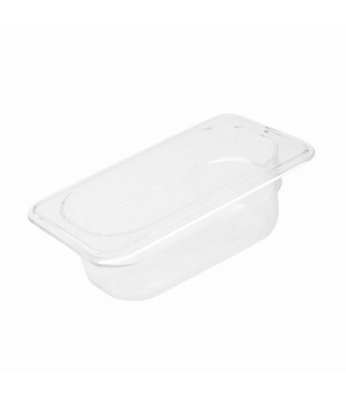 Polycarbonate Food Pan Clear 1/9 x 100mm Deep