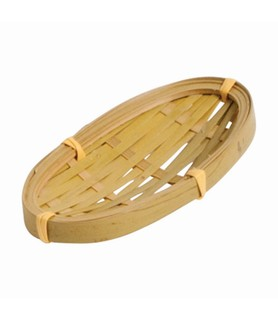 Mini Oval Basket Bamboo 100 x 50mm 6 Per Pack