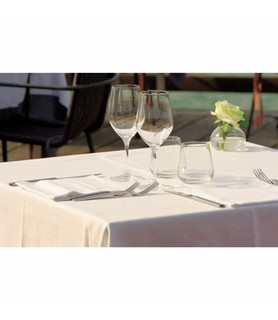 Tablecloth Round 100% Poly White 2240mm 5 Per Ctn