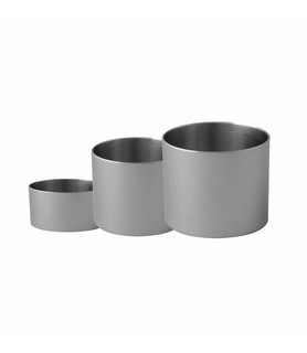 Food Stacker Stainless Steel Round 60 x 60mm