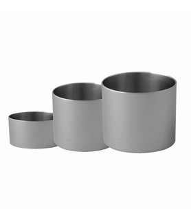 Food Stacker Stainless Steel Round 83 x 60mm